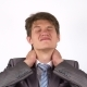 Young Businessman with Pain in the Neck Joint - VideoHive Item for Sale