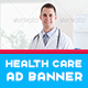 Healthcare Service Ad Banner - AR - GraphicRiver Item for Sale