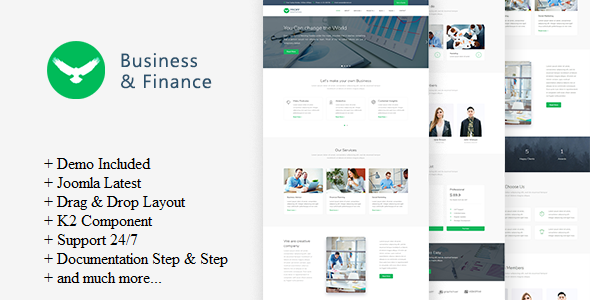 Proff - Business and Finance Joomla Template