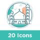 20 Eid Al Adha icon sets - GraphicRiver Item for Sale