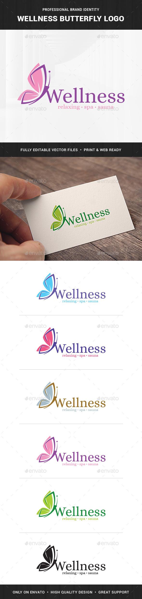 Wellness - Butterfly Logo Template