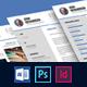 Clean Modern 3-Piece CV Resume - GraphicRiver Item for Sale