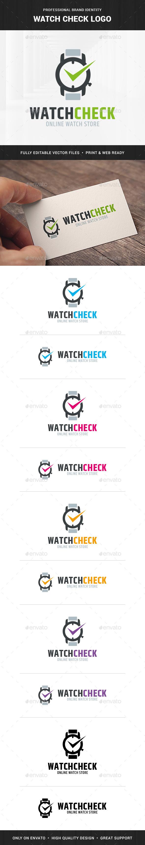 Watch Check Logo Template