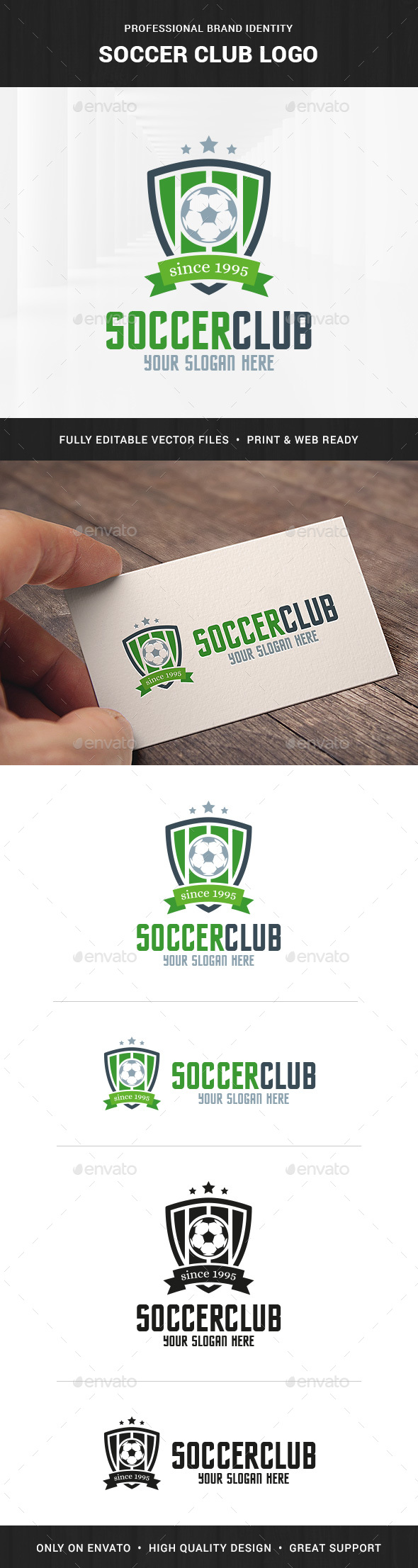 Soccer Club Logo Template