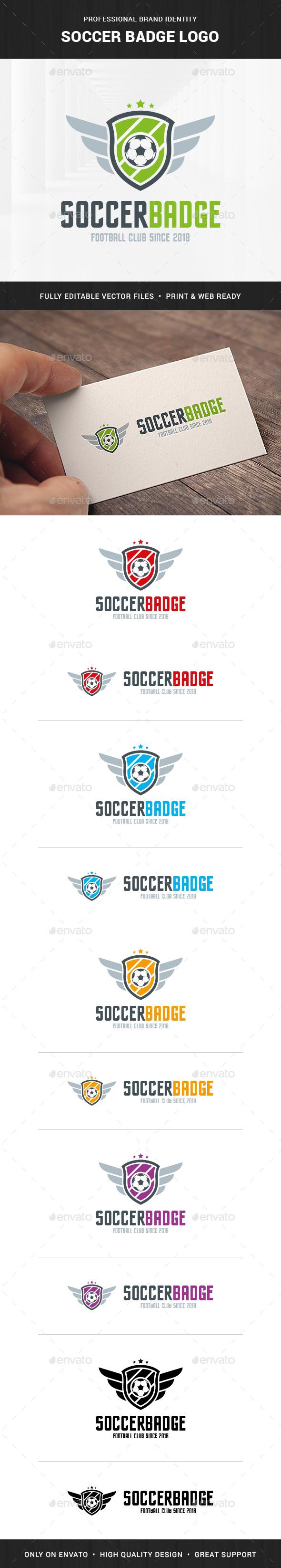 Soccer Badge Logo Template
