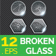 Broken Glass Circle Shape Vector - GraphicRiver Item for Sale