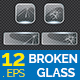 12 Broken Glass in Square Shape Collection - GraphicRiver Item for Sale