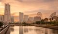 MInatomirai district in Yokohama at sunset - PhotoDune Item for Sale