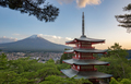 view of Mount Fuji from the Chureito Pagoda - PhotoDune Item for Sale