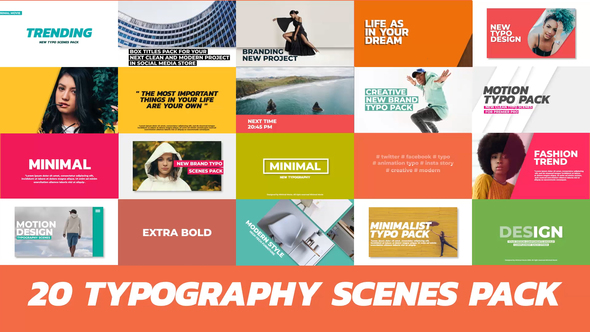 20 Trendy Typography Scenes