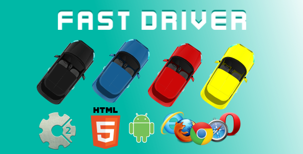 Fast Driver HTML5 Game (CAPX) Download
