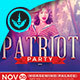 Patriot Party Political Square Flyer Template - GraphicRiver Item for Sale
