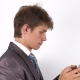 Young Man Hands Writing Sms, Texting on Smartphone. - VideoHive Item for Sale