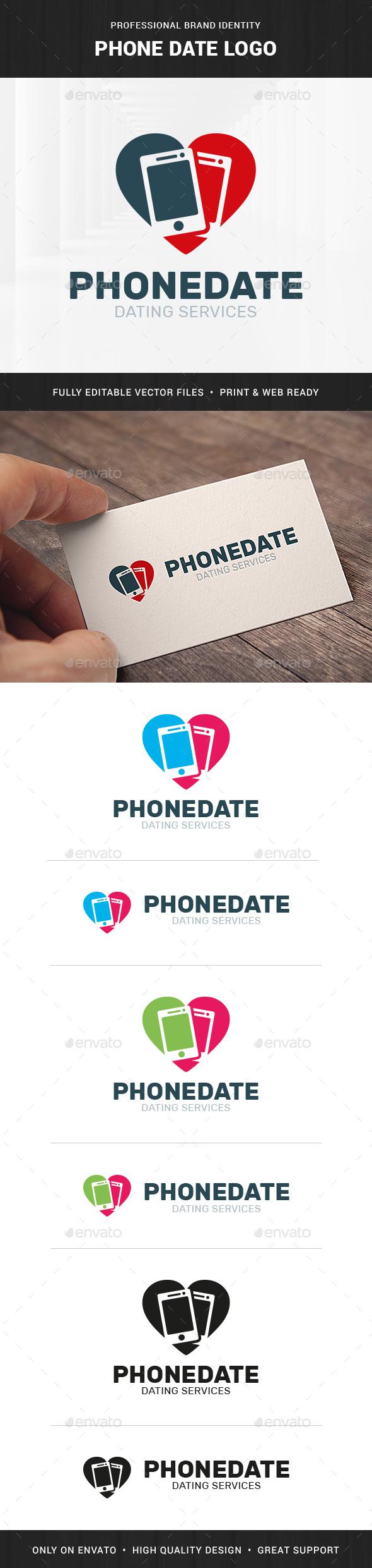 Phone Date Logo Template