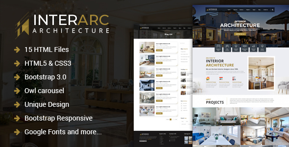 InterArc - Interior Design HTML Template