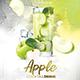 Apple Cocktail Drink Flyer - GraphicRiver Item for Sale