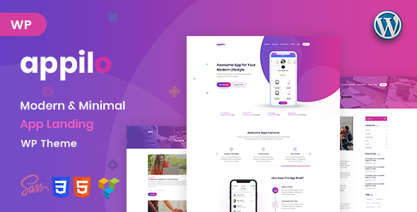 Appilo - App Landing Page