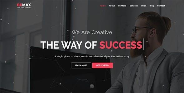 Bemax – OnePage Parallax Joomla Theme