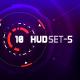 Conceptual 10 Futuristic Hi-Tech HUD Set - GraphicRiver Item for Sale