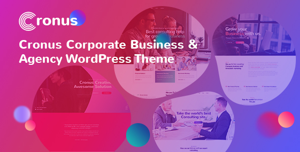 Cronus Plus - Corporate Business and Agency WordPress Theme