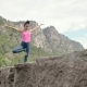 Male Mountain Climber In Summer. Man Hiking Exploring Cave Enjoying Success - VideoHive Item for Sale