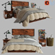 3d Antiques Reclaimed Wood Storage Bed - 3DOcean Item for Sale