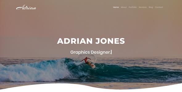 Adrian | Personal Portfolio Template