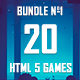 20 HTML5 Games + Mobile Version!!! MEGA BUNDLE №1 (Construct 2 / CAPX) - CodeCanyon Item for Sale