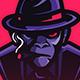 Mascot Logo Monkey Father Mafia - GraphicRiver Item for Sale