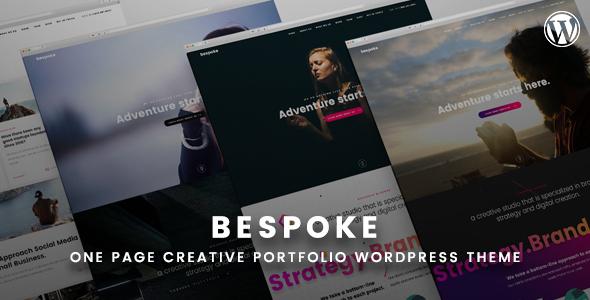 Bespoke - Onepage Creative WordPress Theme