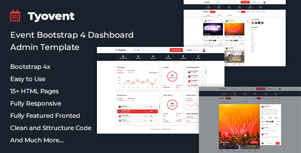 Tyovent - Event Management Dashboard HTML Template