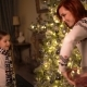 Mom and Daughter Give Each Other Christmas Presents. - VideoHive Item for Sale