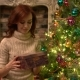Amazed Woman Looking at Magical Christmas Gift in the Box - VideoHive Item for Sale