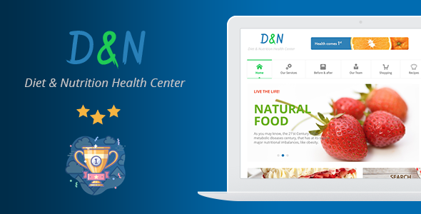 Diet & Nutrition Health Center - WordPress Theme