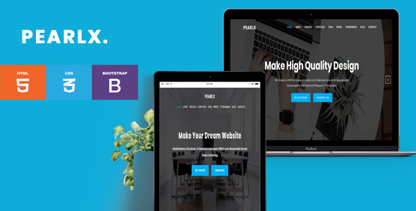 Pearlx- OnePage Responsive HTML5 Template