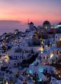 Sunset on Oia in Santorini, Greece - PhotoDune Item for Sale