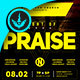 Night of Praise Gospel Concert Square Flyer Template - GraphicRiver Item for Sale