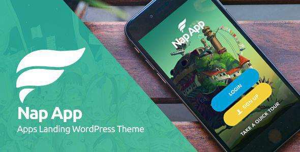 NapApp - WordPress App Landing Page