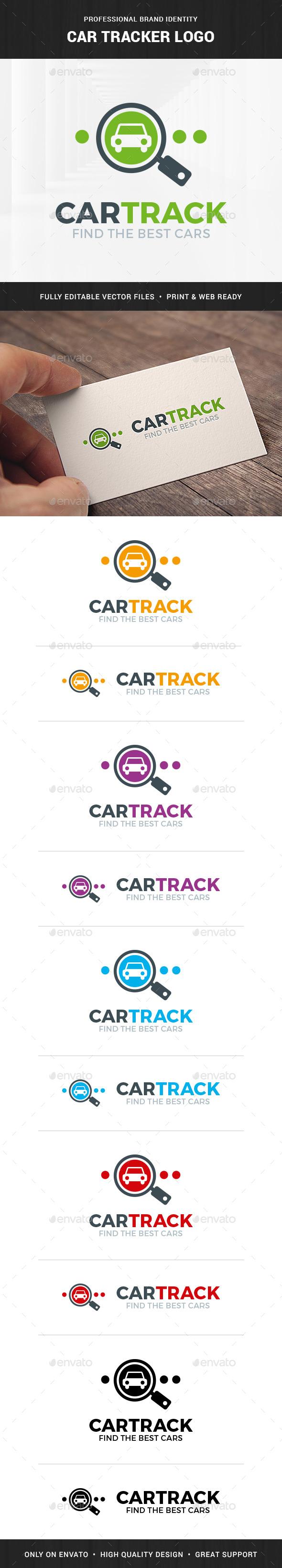 Car Tracker Logo Template