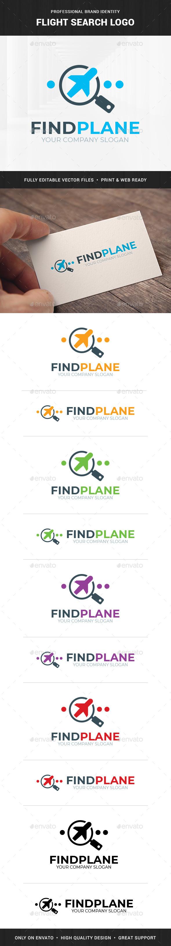 Flight Search Logo Template