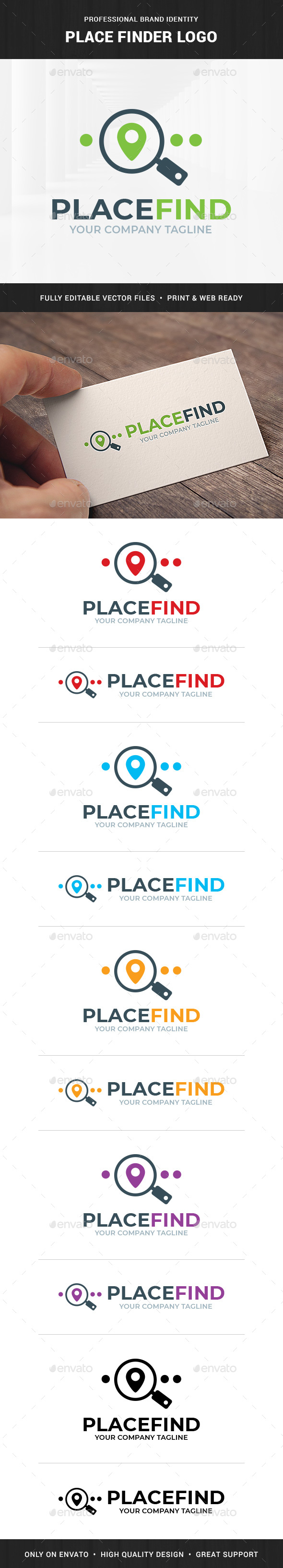 Place Finder Logo Template
