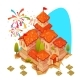 Sandy Castle with Red Roof - GraphicRiver Item for Sale