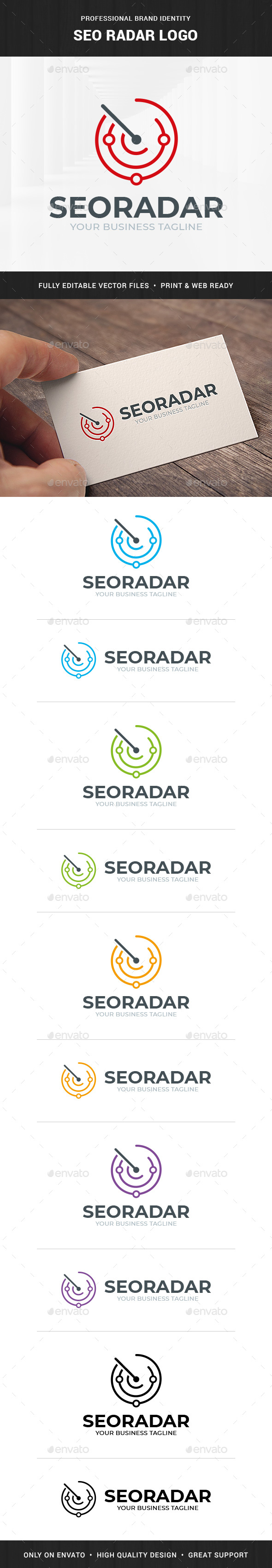 SEO Radar Logo Template