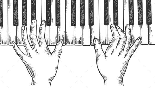 Piano Drawing Vectors From Graphicriver