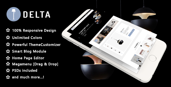 Delta - Creative Furniture and Decor Responsive PrestaShop 1.7 Theme