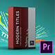 Modern Titles Pack - VideoHive Item for Sale
