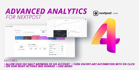 Nextpost Module: Advanced Analytics. Get daily Instagram reports and statistics Download