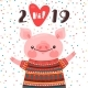 2019 Happy New Year Card Design - GraphicRiver Item for Sale