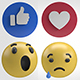 2K Facebook Emojis Reactions - VideoHive Item for Sale