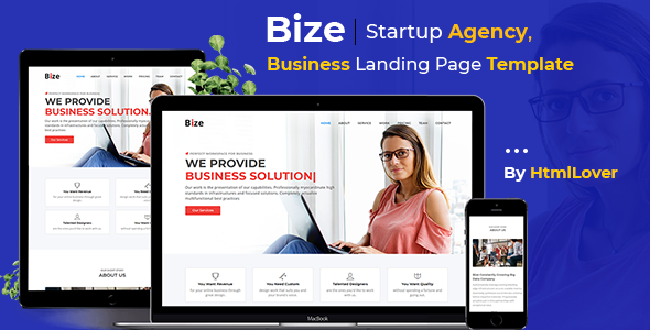 Bize – Startup Agency, Business Landing Page HTML Template